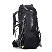 Hiking Backpack Water-Resistant Internal Frame Backpack for Outdoor Sport Backpacking Trekking Bag For Hiking, Climbing, Camping, Cycling, Travel and Mountaineering Free Rain Cover Include 50L (45L+5L)