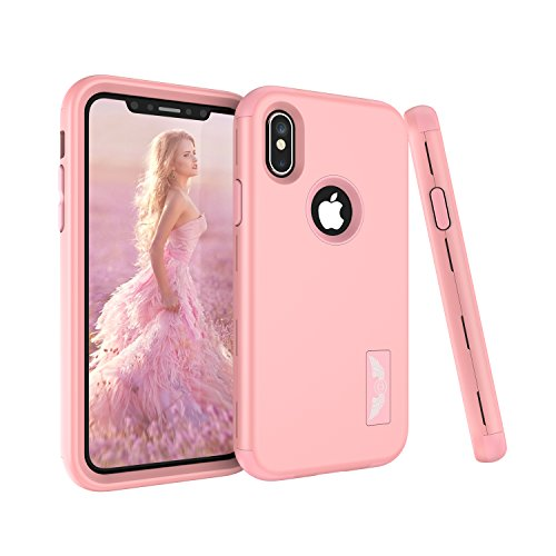 Click to buy iPhone X Case, Fisel Wing Design Ultra Three Layer Soft Silicone & Hard Back High Impact Hybrid Drop Proof Armor Defensive Full Body Bumper Protective Case for iPhone X 5.8 Inch (2017 Release) - From only $4.49