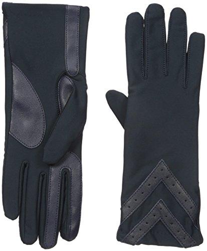 isotoner-womens-spandex-smartouch-chevron-gloves-navy-small-medium