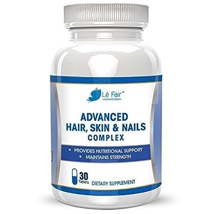 Le Fair - Fórmula avanzada para pelo, piel y uñas - Contiene biotina, extracto