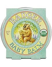Badger - Baby Balm, Chamomile & Calendula, Certified Organic Baby Balm, Cradle Cap Balm for Babies, Baby Rash Balm, Baby Skin Care, 2 oz