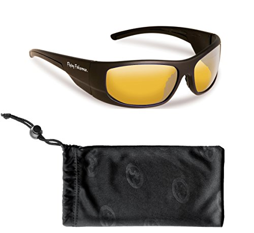 - Flying Fisherman Cape Horn Polarized Sunglasses Bundle Kit, Matte Black/Yellow-Amber