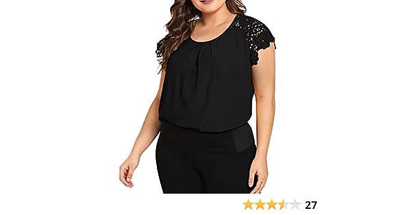 POLP Camiseta de Tirantes de Encaje Mujer Traje de Gordo Tank ...