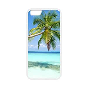 Best Slim Sandy Tropical Paradise Beach with Palm Trees and the Sea Design Case Cover for Iphone 6 For Impact Protection Super Fit Iphone 6 TPU(Laser Technology) - 4.7inches
