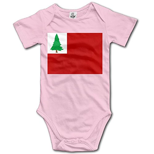 ONE SUIT New England Pine Flag Cool Baby Onesies Infant Clothes Boys Girls Bodysuit Jumpsuit Rompers Baby Outfits