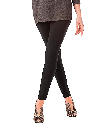 HUE womens Ultra Legging with Wide Waistband, Black, 3X - Hue Leggings