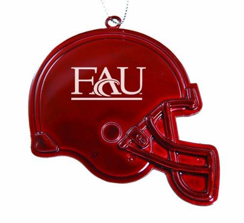 Florida Atlantic University - Chirstmas Holiday Football Helmet Ornament - Red (Football Of Helmet Florida University)