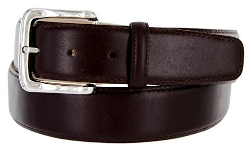 Valley View Men's Designer Leather Dress Belt (Smooth Brown, 40)