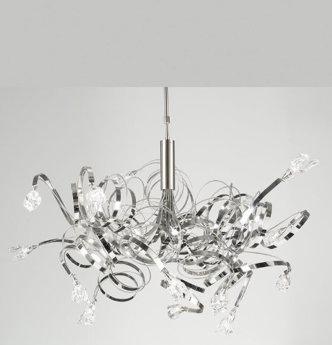 PLC Lighting 6046 SN Chandelier from Ribbon Collection