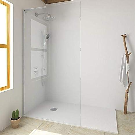 Mampara de ducha fija cristal (8 mm Single 90 x 200: Amazon.es: Bricolaje y herramientas