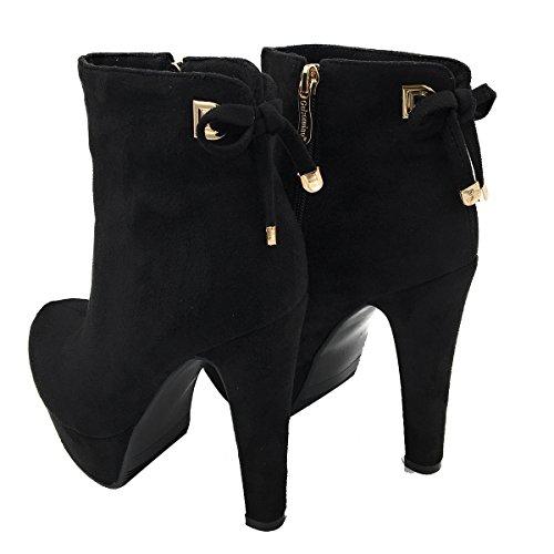 10CM Noir Aiguille Femme Éclair Fermeture Chaussures Vaneel Bottes vbn24 xwUEq4