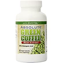 Absolute Nutrition Diet Supplement, Green Coffee Bean Extract with Svetol, 60 Count