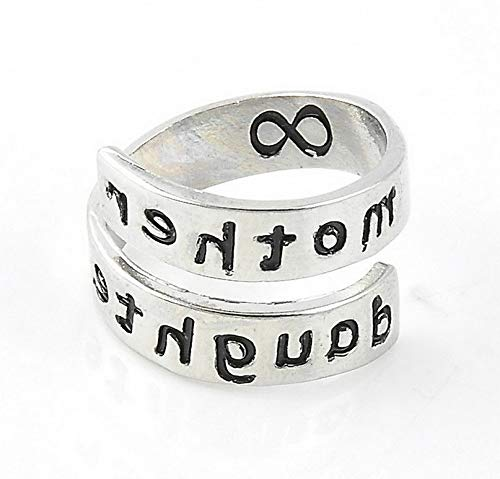 (Campton New Fashion Engraved Letters Infinite Opening Adjustable Finger Ring Couple Gift | Model RNG - 1691 |)