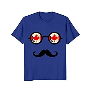 Canadian Flag Sunglasses Mustache Maple Leaf Mister T-Shirt