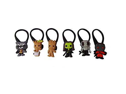 Zoe Saldana Guardians Of The Galaxy Costume (AVIRGO 6 pcs Soft Zipper Pull Charms for Jacket Backpack Bag Pendant Set # 114 - 3)