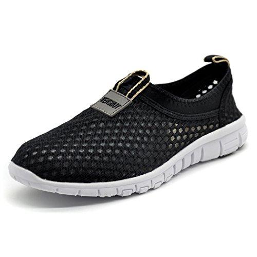 à ultra respirant Course Noir daillor maille homme enfiler femme de Chaussures léger Chaussures et de noir pour PP6ntUz