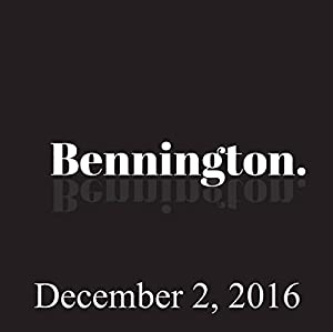 Bennington, Marc Broussard, December 2, 2016 Radio/TV Program