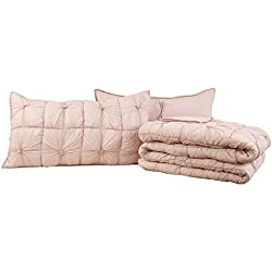 VHC Brands Camille Blush Pink King Set; Quilt 95x105-2 Shams 21x37
