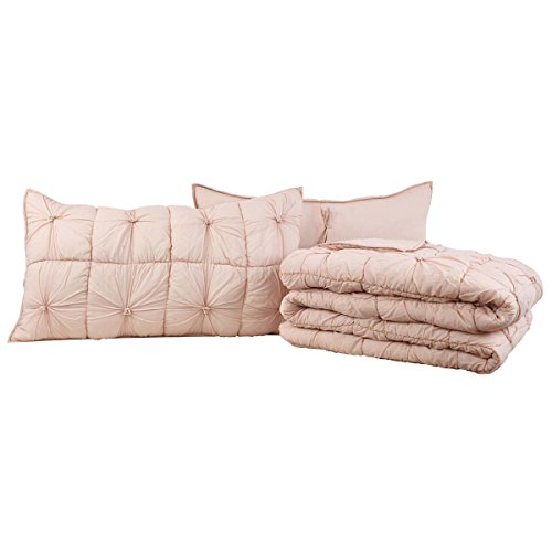 VHC Brands Camille Blush Pink Lux King Set; Quilt 105x120-2 Shams 21x37 by VHC Brands