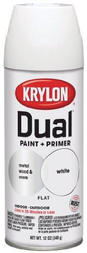 Krylon Dual Paint & Primer Aerosol 12 Oz. Flat White - Lot o