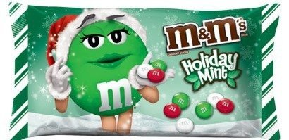 M&m's Mint Chocolate, Christmas Red, Green and White Candies, 9.9oz Bags (Pack of 3) -