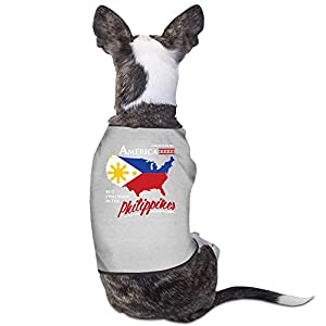 I May Live In America But I Was Made In The Philippines Dog Clothes Dog Sweater Coats Jackets