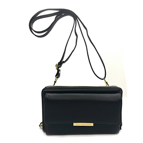 Multi-Pocket Small Crossbody Bag Cell Phone Purse Wallet For Women Shoulder Bags (Leather Multi Strap)