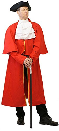 [Panto-Fancy Dress-Victorian-Larp-Cosplay-Deluxe Regency MEN'S TOWN CRIER COSTUME - From Sizes Small to XXXXL (XL)] (Town Crier Costumes)