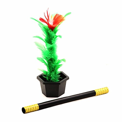 Flower Magic Wand - Magic wand to flowet magic trick easy magic tricks toys for adults kids show prop toys for boys fun for children - Magic Appearing Flower -