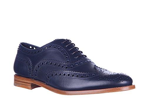 clásico piel zapatos burwood Church's de nuevo mujer blu hole en brogue cordones gAYOgwx