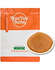 Brew Your Bucha Kombucha Tea SCOBY with Starter Fluid. SCOBY Grown with Our Premium Yunnan Gold Black Tea