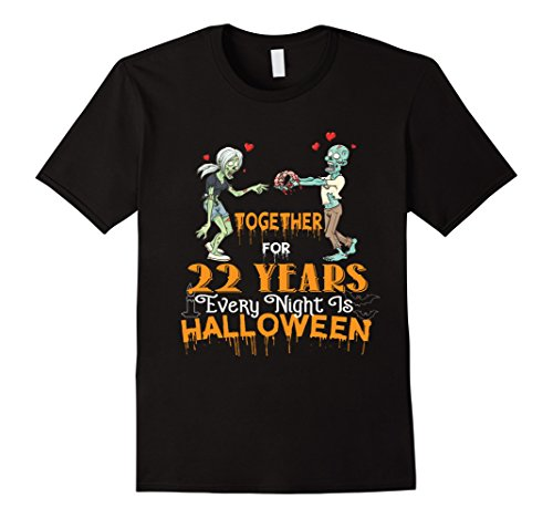 Mens Halloween Costumes For Wife Husband. 22nd Anniversary Gift. 2XL Black