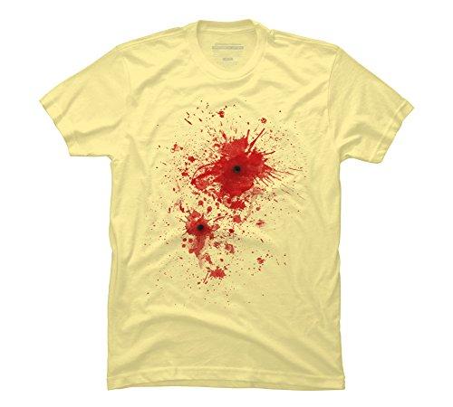 Blood spatter / bullet wound - Costume Men's Large Banana Cream Graphic T (Bullet Wound Costume)