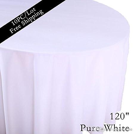 1c584f0fee Amazon|結婚式ラウンド Squard テーブルの結婚パーティのテーブル布カバーの 10 PC / ロット 2016 ポリエステル白 120 「 ラウンドテーブルモダンなカバー布の 1 ...