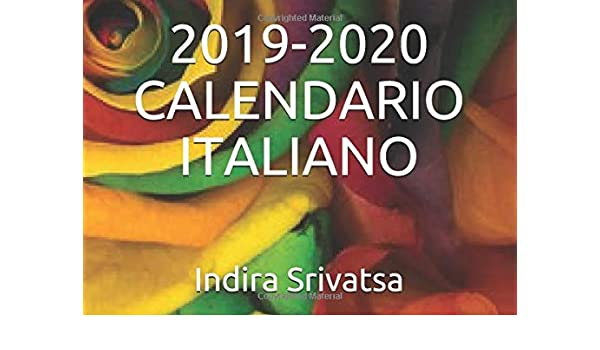 Poster Calendario 2020.2019 2020 Calendario Italiano Italian Edition Indira