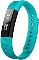 Fitness Tracker Self-Timer Slim Smart Watch New Bracelet Bluetooth Call Reminder Calorie Counter Wireless Pedometer Band Sport Sleep Monitor Activity Tracker For Android iOS Phone (Deep t Blue)