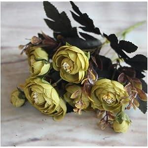 CoronationSun - Back to Home Page - Artificial Flower Fake Peony 6 Head Hydrangea Decor 14