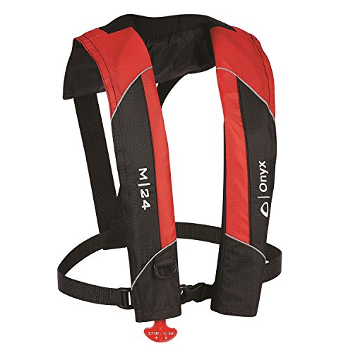 (Onyx M-24 Manual Inflatable Vest, Red)