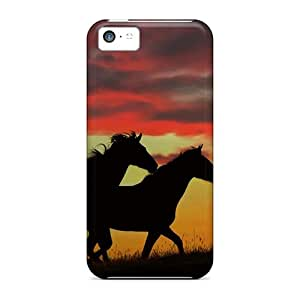 New Diy Design Wild Horses Running For Iphone 5c Cases Comfortable For Lovers And Friends For Christmas Gifts