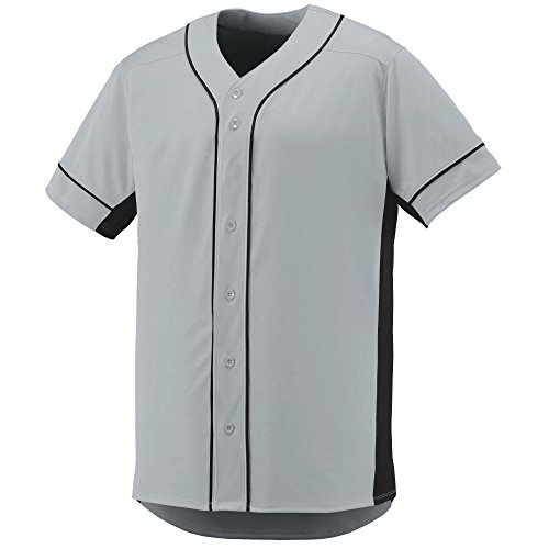 (Augusta Sportswear Boys' Slugger Baseball Jersey M Silver/Black)