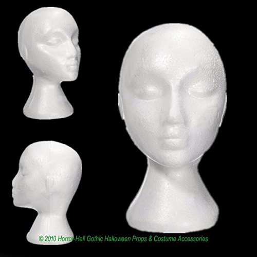 New Prop Building Supply-MANNEQUIN HEAD-Halloween costume Mask Wig Display-WOMAN