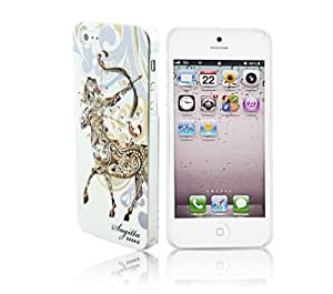 Brightdeal Cystal bling hard diamond case for iphone 5 5s Zodiac pattern Sagittarius