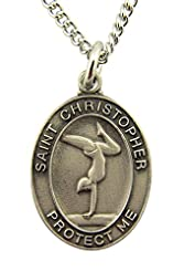 Girls St. Christopher Gymnastics Medal w...