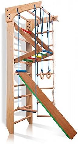Kletterger/üst Kinder-3-240-Farbe Gym Kletterwand Sportger/ät Turnwand Innere Sprossenwand Holz