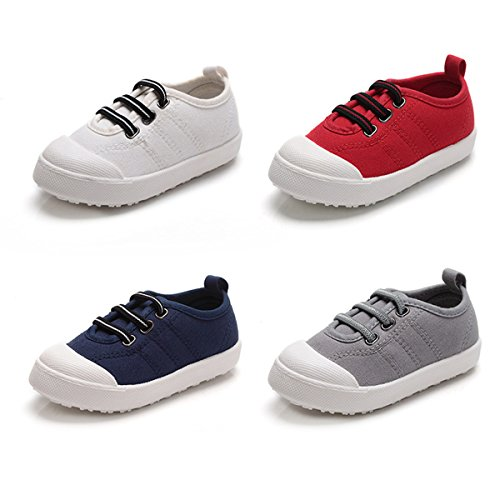 1fd90eb752f BENHERO Kids Canvas Sneaker Slip-on Baby Boys Girls Casual Fashion Boat  Shoes