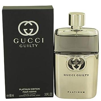 4ae33be84b43 Amazon.com : Gucci Guilty Platinum by Gucci Eau De Toilette Spray 3 oz 90  ml For Men : Beauty