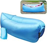 Easy Inflatable Waterproof Lounger Sofa Airbed Couch with Box, Bag, and Pegs for Indoor or Outdoor Use