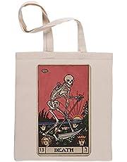 Död Tarot Återanvändbar beige shoppingväska Reusable Beige Shopping Bag