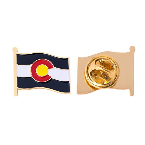 (Colorado CO State Flag Lapel Pin Enamel Made of Metal Souvenir Hat Men Women Patriotic (Waving Flag Lapel Pin))