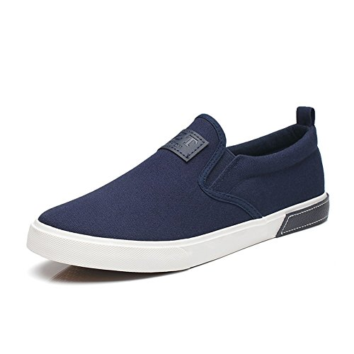 HUAN Espadrilles Mens Canvas Shoes Casual Shoes Outdoor Academy Exercise Sneakers Academy Outdoor Espadrilles (Color : Blue, Size... B078M441K7 Shoes 926476